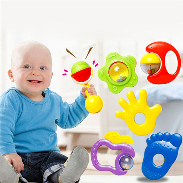 6Pcs/set Toddler Kids Handbell Music Toy For Newborn Children - Toddler Toys