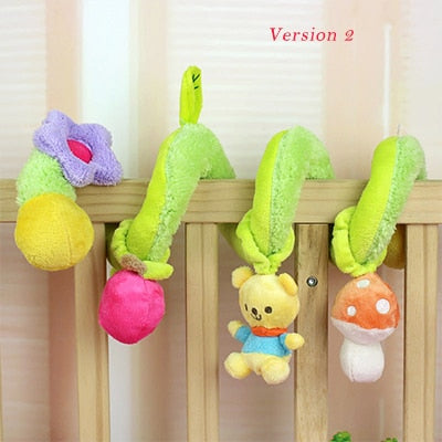 Soft Infant Crib Bed Stroller Toy Spiral Baby Toys