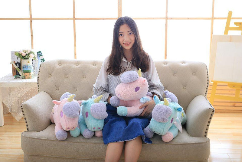 Soft Horse Kawaii Rainbow Unicorn Doll Birthday Or Christmas Gift - Soft Toys