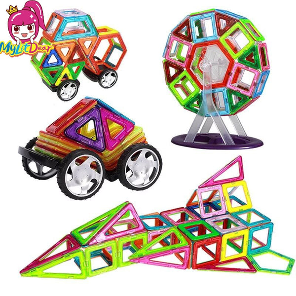 Big Size Magnetic Blocks Technic Plastic Building Magnetic Blocks Enlighten Assembly Toys For Children - Educational Toys