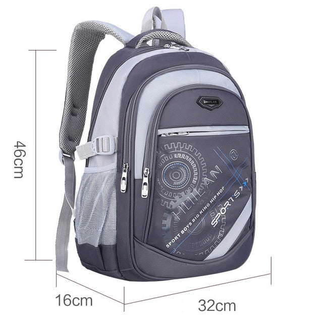 2018 Hot New Children School Bags For Teenagers Boys & Girls - Gray B - Baby Accessories