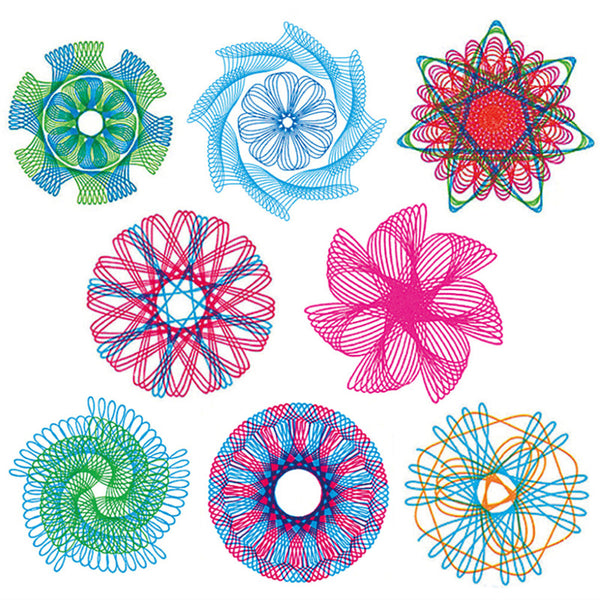 22Pcs Spirograph Drawing Toys Set Interlocking Gears & Wheels - Educational Toys