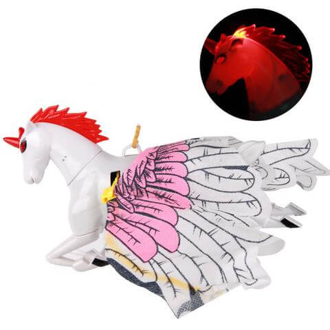 Novelty Flash Simulation Electric Flying Horse Toys