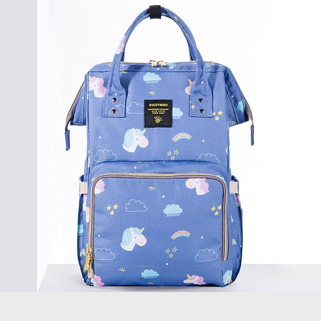 Mummy Maternity Diaper Bag - Unicorn Blue - Baby Accessories