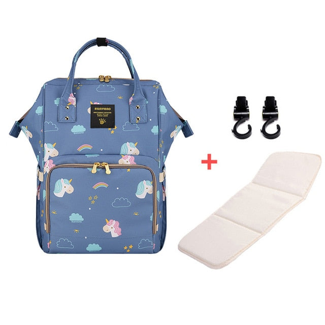 Mummy Maternity Diaper Bag - Unicorn Blue H - Baby Accessories
