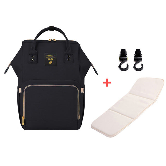 Mummy Maternity Diaper Bag - Black H - Baby Accessories