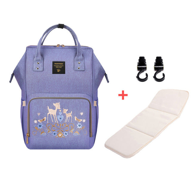 Mummy Maternity Diaper Bag - Deer Purple H - Baby Accessories