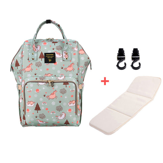 Mummy Maternity Diaper Bag - Green Dream Sky H - Baby Accessories