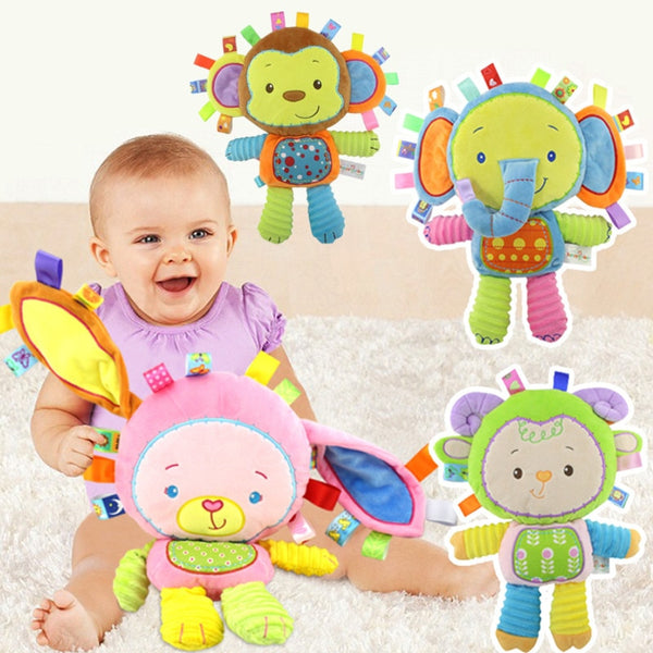 Happy Monkey Kids Baby Cute Plush Rattle Stuffed Educational Learning Toyy - Educational Toys