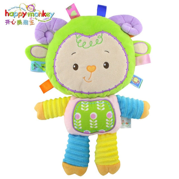 Happy Monkey Kids Baby Cute Plush Rattle Stuffed Educational Learning Toyy - Lamb - Educational Toys