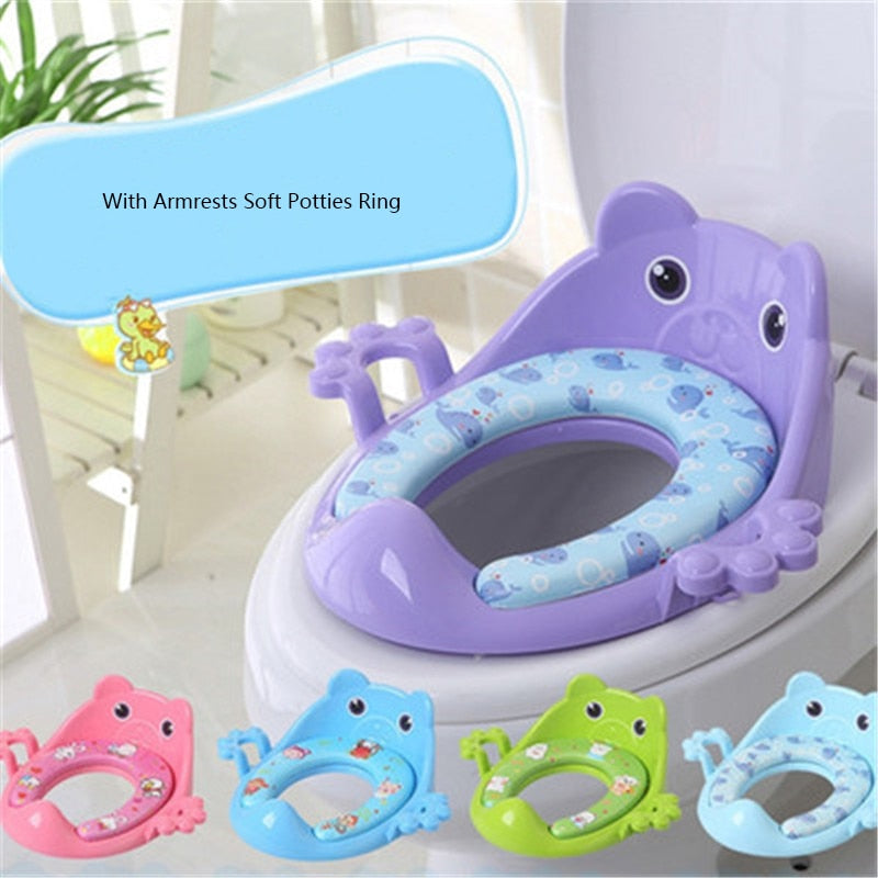Children Potty Safe Seat With Armrests