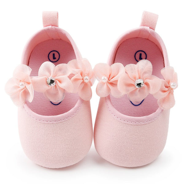Flowers Newborn Baby Girl Shoes