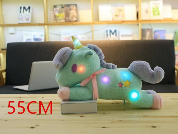 Soft Horse Kawaii Rainbow Unicorn Doll Birthday Or Christmas Gift - Luminous A - Soft Toys