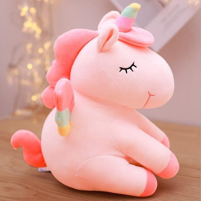 Soft Horse Kawaii Rainbow Unicorn Doll Birthday Or Christmas Gift - E 25Cm - Soft Toys