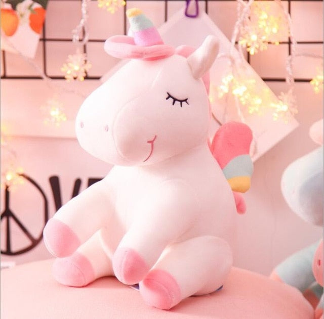 Soft Horse Kawaii Rainbow Unicorn Doll Birthday Or Christmas Gift - F 25Cm - Soft Toys