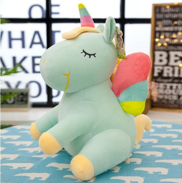 Soft Horse Kawaii Rainbow Unicorn Doll Birthday Or Christmas Gift - G 25Cm - Soft Toys