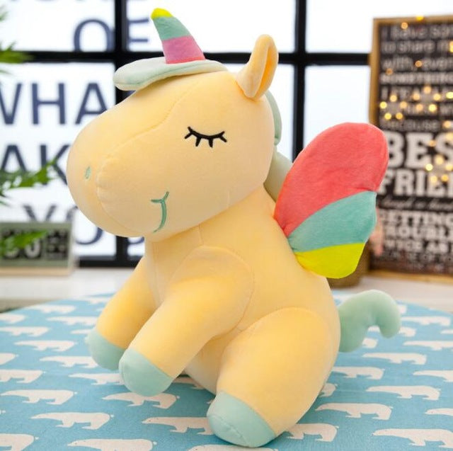 Soft Horse Kawaii Rainbow Unicorn Doll Birthday Or Christmas Gift - H 25Cm - Soft Toys
