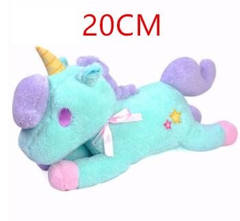 Soft Horse Kawaii Rainbow Unicorn Doll Birthday Or Christmas Gift - J 20Cm - Soft Toys