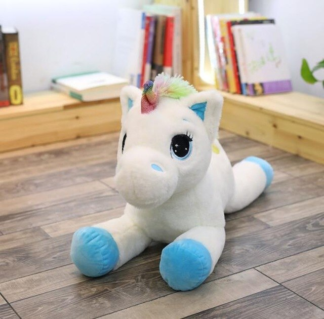 Soft Horse Kawaii Rainbow Unicorn Doll Birthday Or Christmas Gift - K 40Cm - Soft Toys
