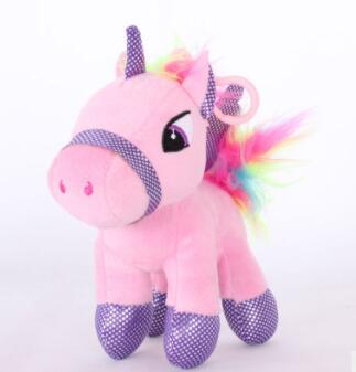 Soft Horse Kawaii Rainbow Unicorn Doll Birthday Or Christmas Gift - M 15Cm - Soft Toys