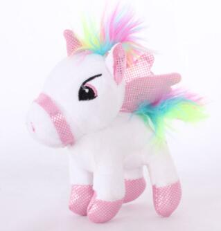 Soft Horse Kawaii Rainbow Unicorn Doll Birthday Or Christmas Gift - O 15Cm - Soft Toys