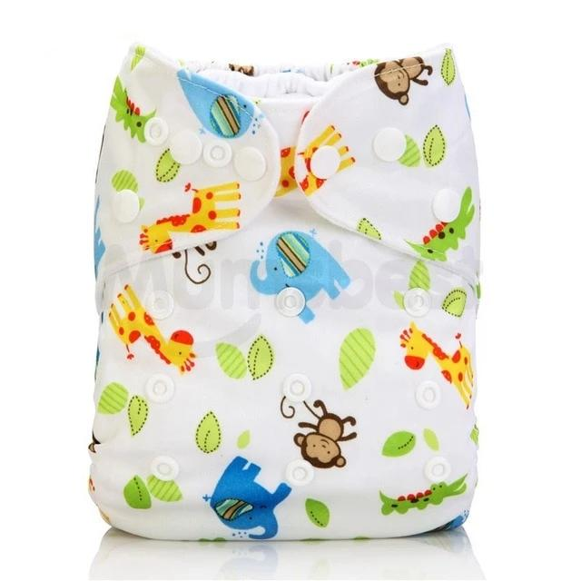 Washable Baby Cloth Diaper pocket Waterproof Cartoon Owl Baby Diapers