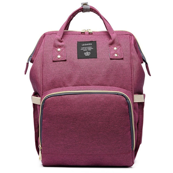 Fashion Mummy Maternity Nappy Bag - Deep Purple - Baby Accessories