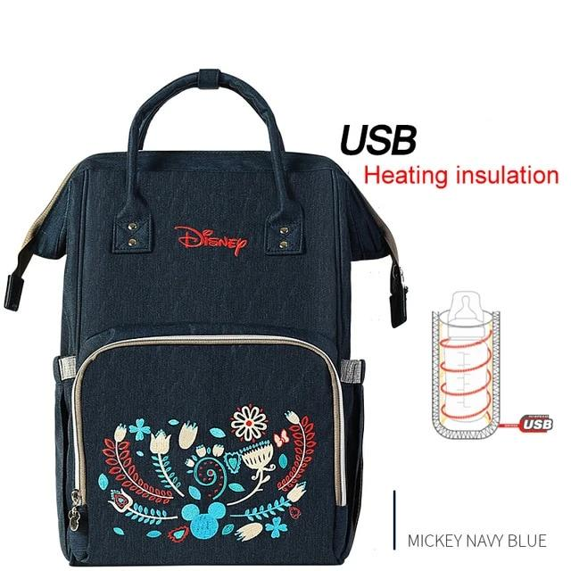 Diaper Bags for Mom USB Bottle Insulation Bag Maternity Nappy