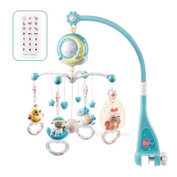 Baby Rattles Crib Mobiles Toy Holder Rotating Crib Bed Bell With Music Box