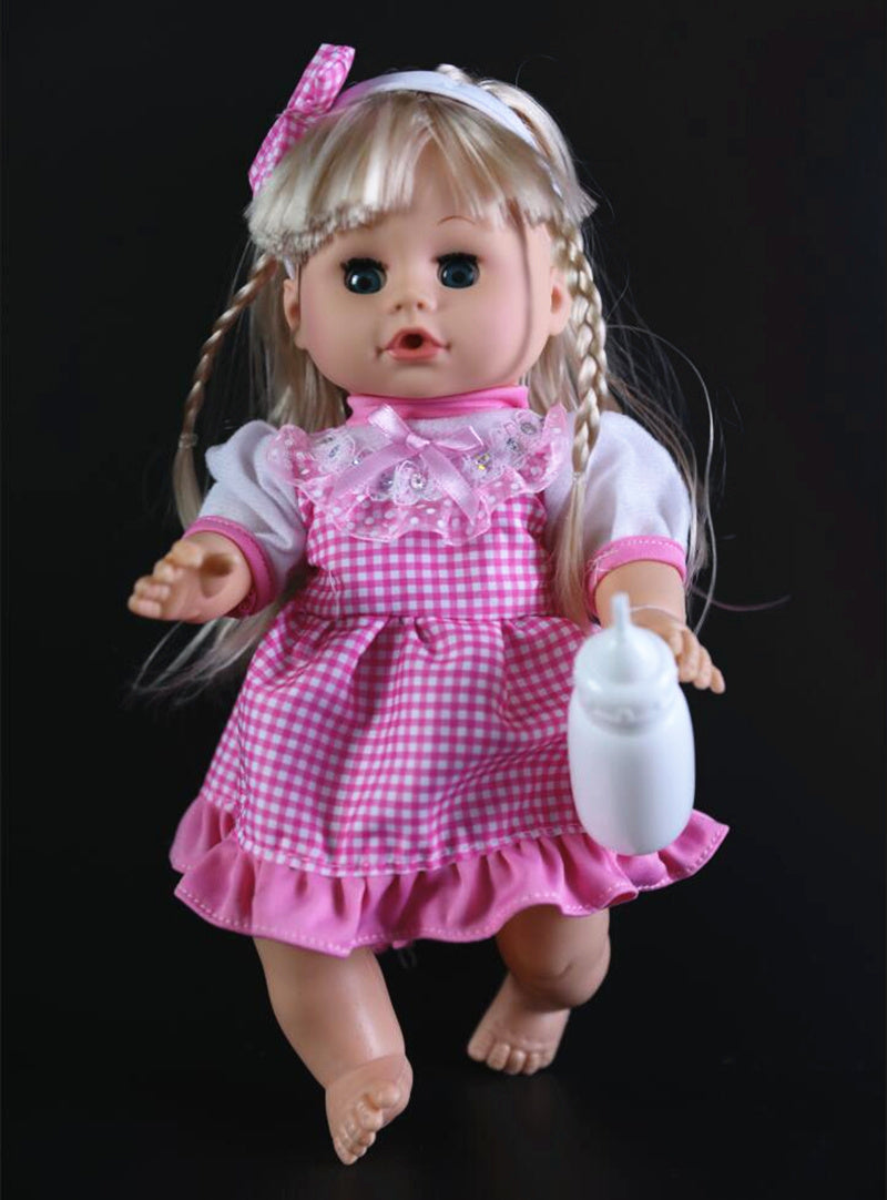 32cm Blinking Feeding Drinking water pee and speak girl  talking doll