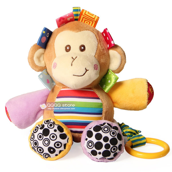 Cute Musical Plush Stuffed Animals Infant Baby Crib Hanging Toys