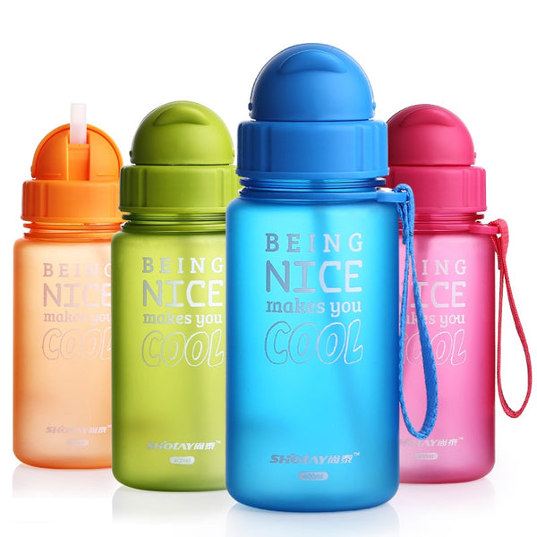 Baby Water Bottle 400ml  With Straw