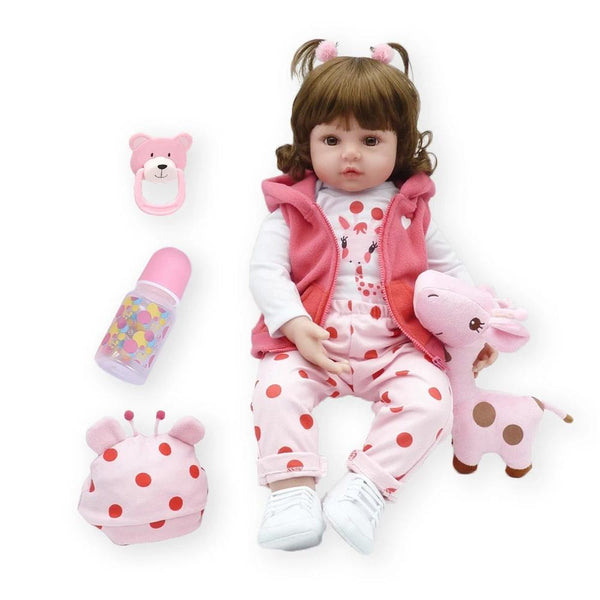 47cm soft silicone reborn toddler baby dolls