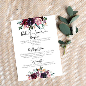 Blomsterfryd invitation PDF