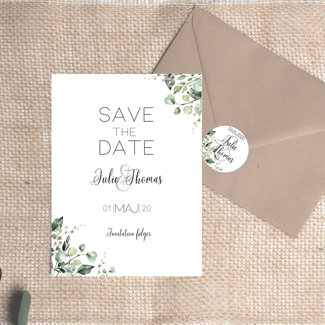 Greeny save the date PDF