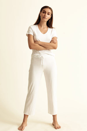 Double Layer Cropped PJ Pant