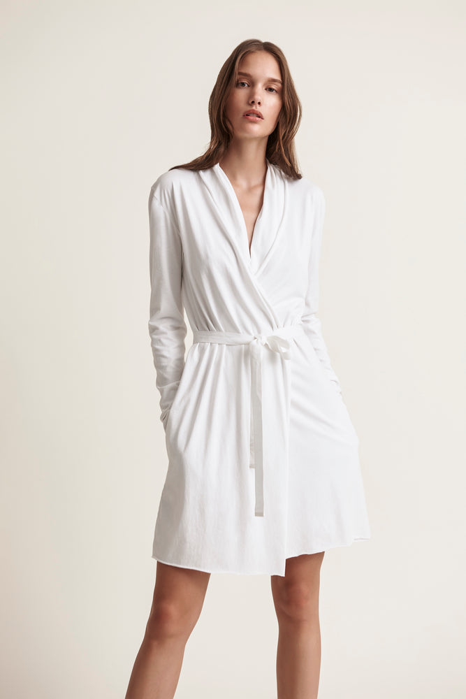 Basic Double Layer Wrap Robe