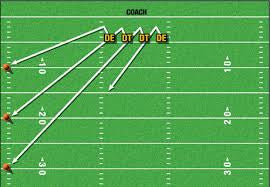 Football pursuit angle drill