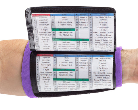 Playbook Wristband - Youth - Purple