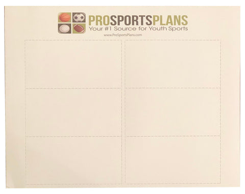 QB Wrist Coach 5 Pack Play Sheets 30 Inserts with template $9.99