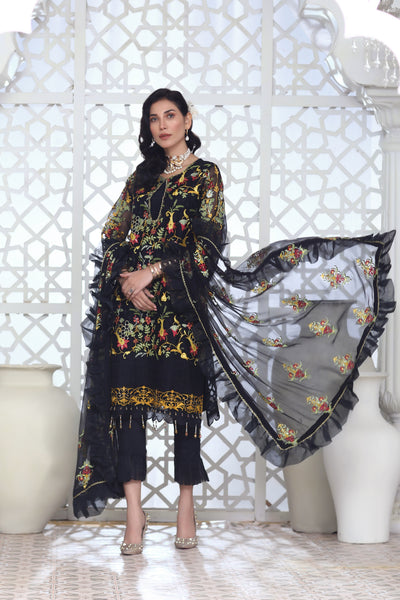 Saleek - Unstitched 3Pc
