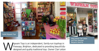 Wigwam Toys recognised in The Parliamentary Review | Wigwam Toys Brighton
