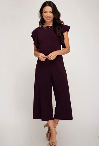 Plum all over jumpsuit
