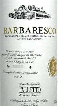 Falletto di Bruno Giacosa Asili, Barbaresco 1998, 1.5L