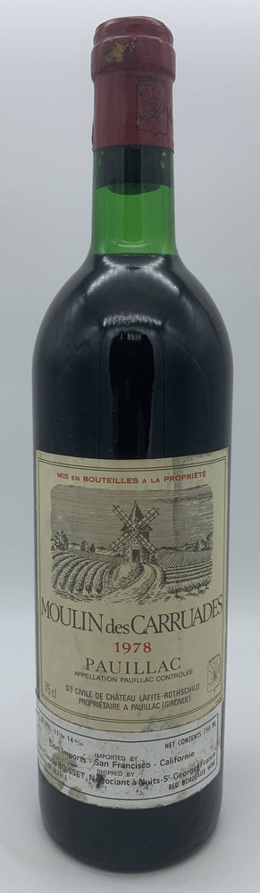 Moulin des Carruades 1978, 750ml