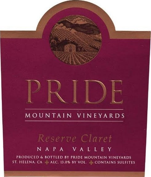 Pride Mountain Vineyards Reserve Claret 2013, 750ml