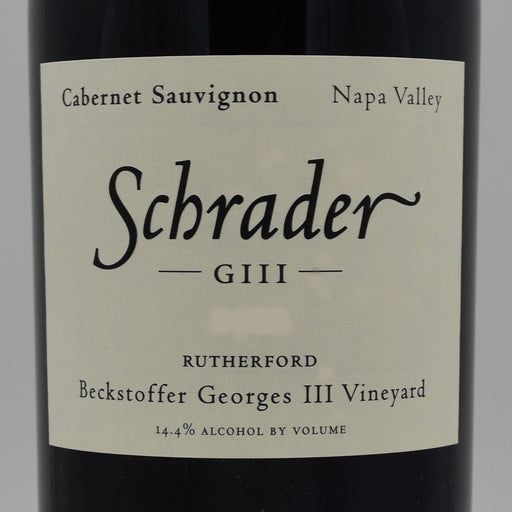 Schrader GIII Beckstoffer Georges III Vineyard 2013, 750ml