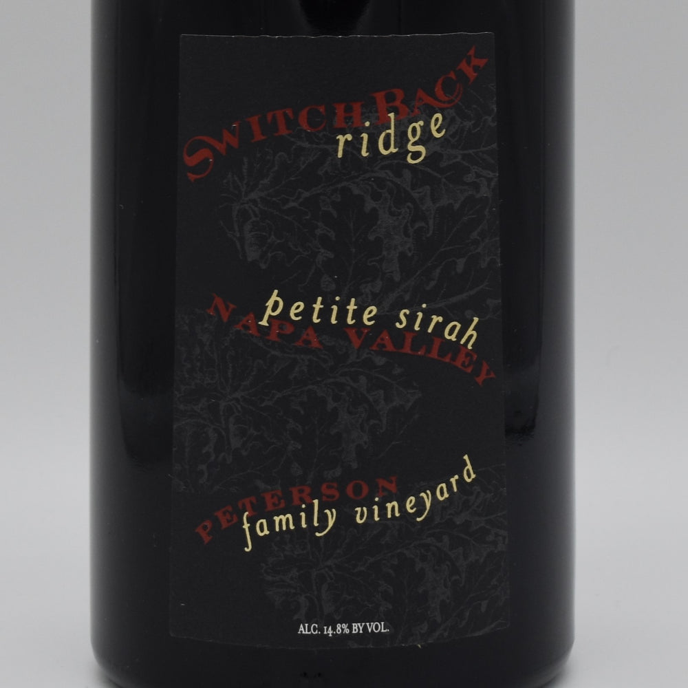 Switchback Ridge, Peterson Family Vineyard Petite Sirah 2001, 750ml