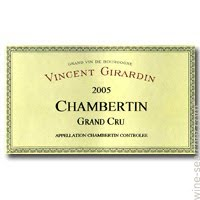 Vincent Girardin Chambertin Grand Cru 2005, 750ml