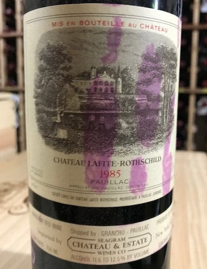 Lafite 1985, 750ml [label stains from wrapper]